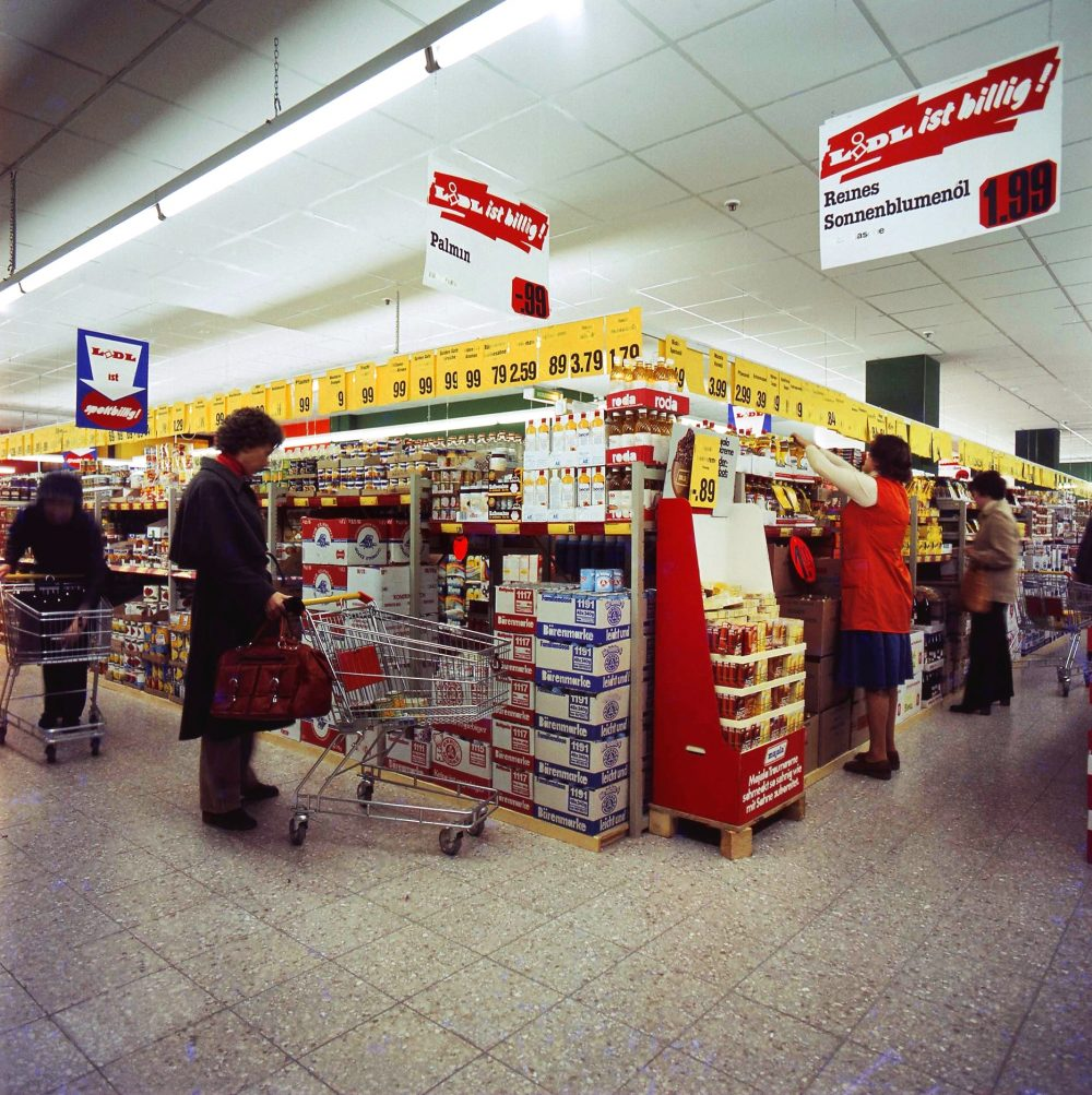 Innenaufnahme Lidl-Markt in den 70ern